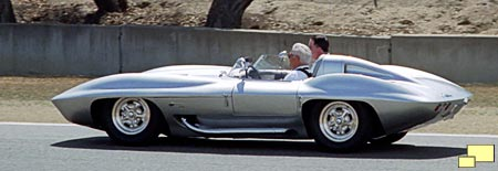 1959 Sting Ray Racer doing demonstration laps, Laguna Seca Raceway, August 2002