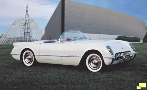 1953 Corvette, outside the Corvette Museum