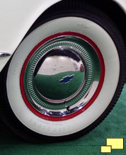 Early 1953 Corvette came with Chevrolet Bel Air wheel cover