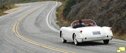 1953 Chevrolet Corvette EX122 on Pacific Coast Highway, August 2008