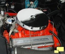 Prototype installation of the 265 cubic inch 195 hp V8 engine