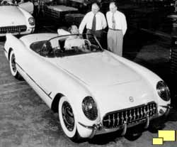 1953 Corvette: first off the assembly line