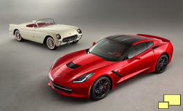 1954 Chevrolet Corvette with 2014 Chevrolet Corvette