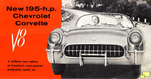 1955 Chevrolet Corvette C1 Brochure Cover
