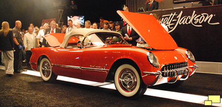 1955 Corvette C1 at Barrett Jackson auction. Color: Gypsy Red