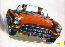 1957 Corvette Brochure Illustration