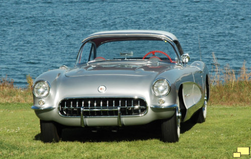 1957 Corvette C1 Fuel Injection in Inca Silver