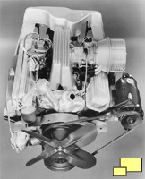 1957 Chevrolet Corvette C1 Fuel Injection GM Press Photograph