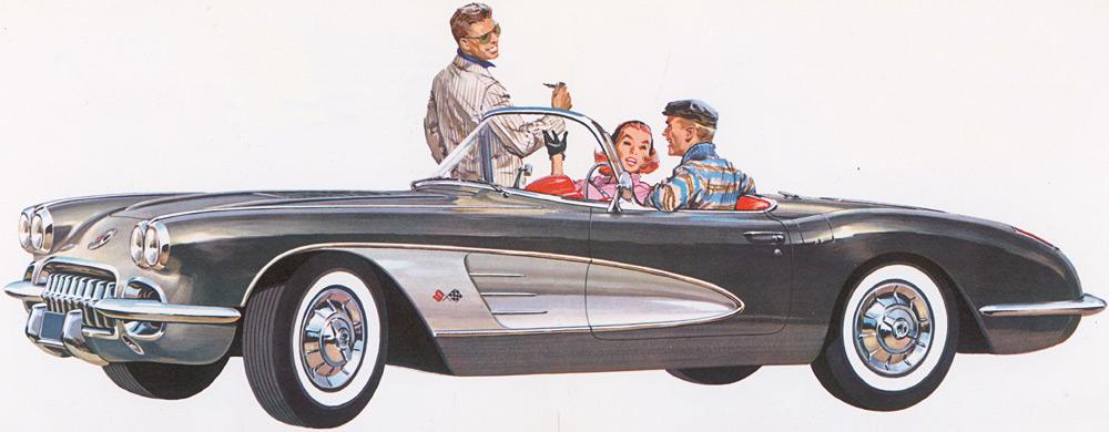 1958 Corvette C1: New Quad Headlight Body Style Debuts ...