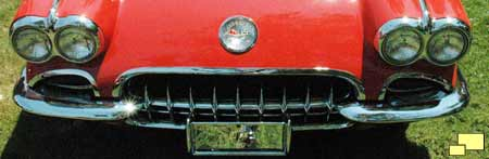 1958 Corvette Front Grill, Quad Headlights