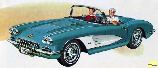 1958 Chevrolet Corvette brochure scan