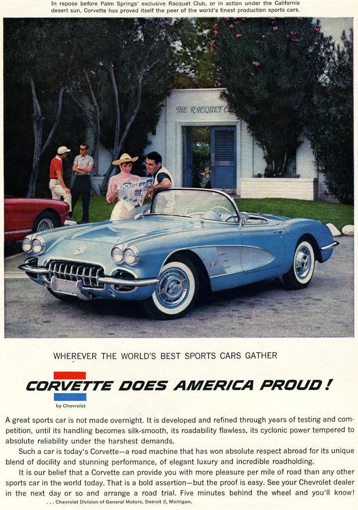 1958 Corvette C1 New Quad Headlight Body Style Debuts