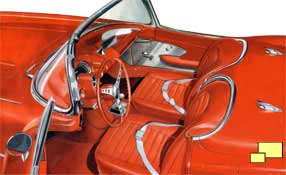 1959 Chevrolet Corvette C1 Interior - Brochure Illustration