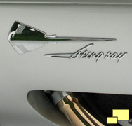 1959 Corvette Sting Ray Emblem and script