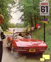 1961 Corvette, rear view - brochure image