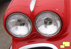 1961 Corvette headlight bezel