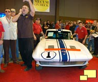 1963 Gulf One Z06 Corvette Stingray at Mecum auction, January 2009