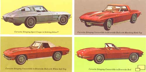 1963 Corvette four views (brochure)