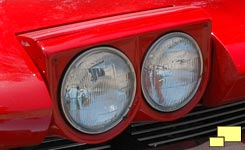 1963 Corvette headlight, open