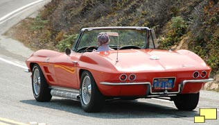 1963 Corvette Roadster in Riverside Red