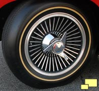 Chevrolet Corvette Cast Aluminum Knock-Off Wheel (RPO P48; $323)