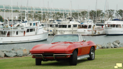 1966 Corvette C1 Rally Red Zoom Lens