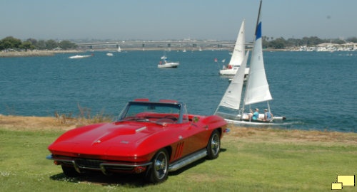 1966 Corvette C2 in Rally Red, San Diego CA