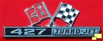 1966 Corvette Stingray 427 side emblem