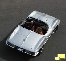 1966 Corvette in Silver Pearl