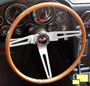 1966 Corvette teak steering wheel