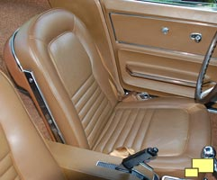 1967 Corvette Stingray Seat, Saddle Interior