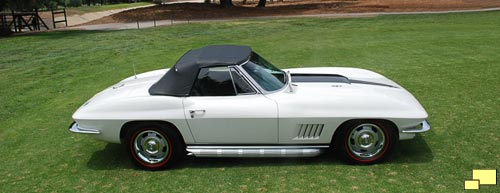 1967 Corvette Convertible in Ermine White
