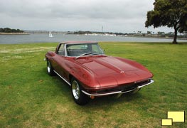 1967 Corvette Convertible with Hardtop in Marlboro Maroon