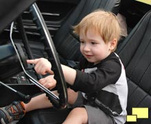 Charming Boy Checking out 1968 Corvette