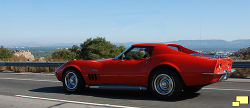 1969 Corvette C3 Coupe Color: Monza Red