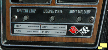 1970 Chevrolet Corvette LT-1 Engine Statistice