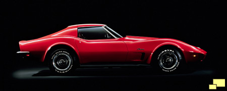 1973 Corvette in Mille Miglia Red: Official GM Photo