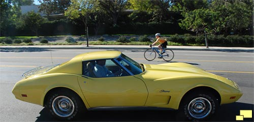 1974 Chevrolet Corvette C3 Coupe in Bright Yellow