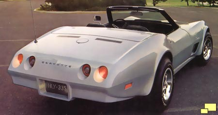 1974 Corvette rear view - brochure illustration