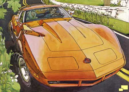 1974 Corvette brochure illustration