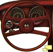 Vega sourced steering wheel (brochure illustration)