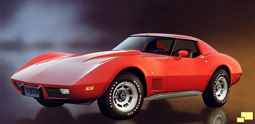 1977 Corvette in Medium Red