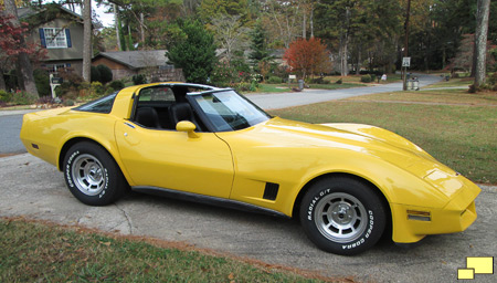 1980 Corvette Yellow
