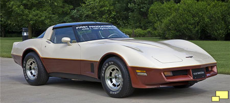 1981 Corvette the first one manufactured at the Bowling Green KY facility