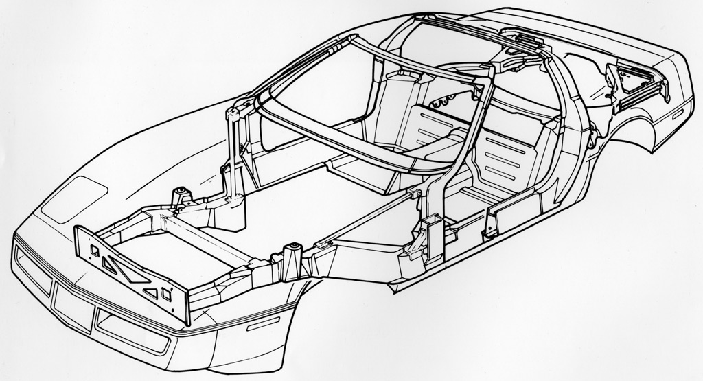 1984 Corvette C4: Front Grill Revised, Chassis Engineering Details