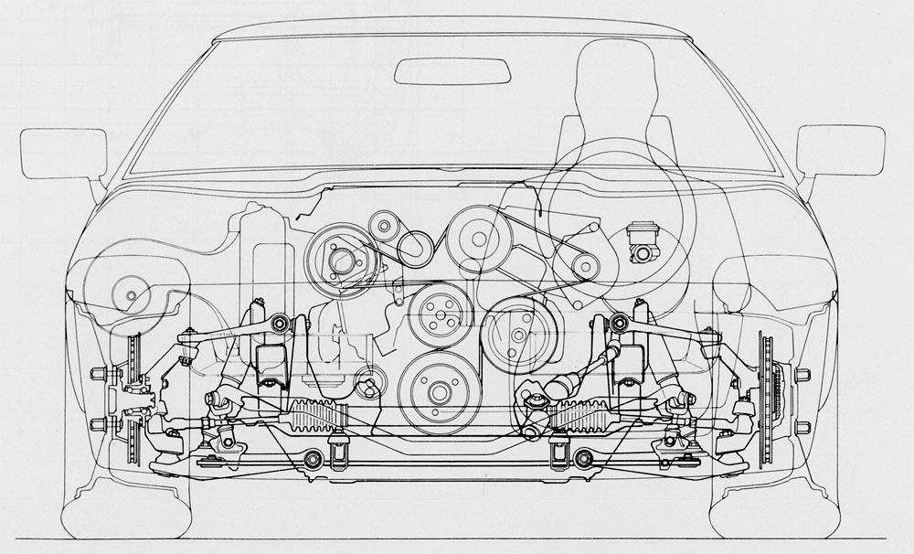 1984 Corvette C4 Front Grill Revised Chassis Engineering Details. Front Outline View C4 Corvette. Corvette. 1995 Corvette Front Suspension Diagram At Scoala.co