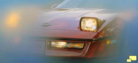 1984 Corvette C4 headlight