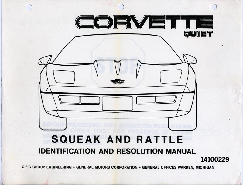 1984 corvette c4  handling updates  chassis engineering drawings
