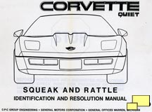 1984 Corvette Rattle and Squeak resolution manual