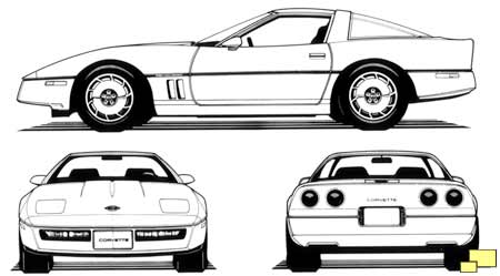 1984 Corvette drawings